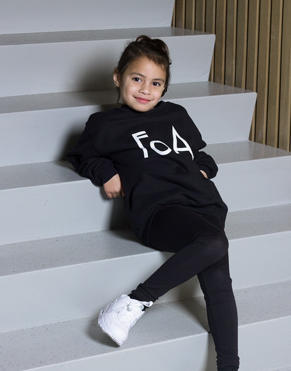 FoA. Kids Sweater Black