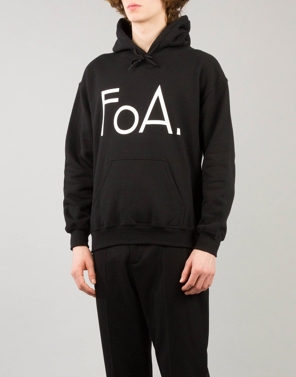 FoA. Logo Sweater Hooded Black