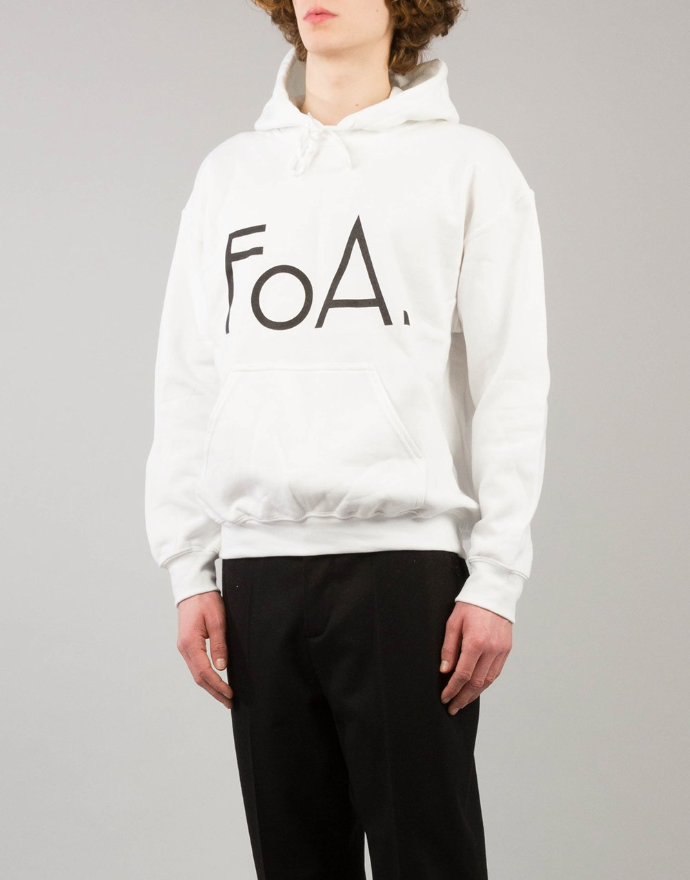 FoA. Logo Sweater Hooded White